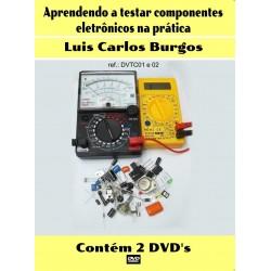 DVD aula Aprendendo a Testar Componentes Eletrônicos na Prática com Kit Didático.