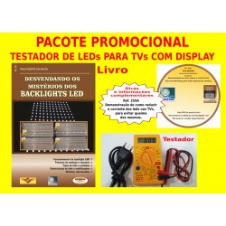 Testador de LEDs para TV LED com display+Livro+DVD aula