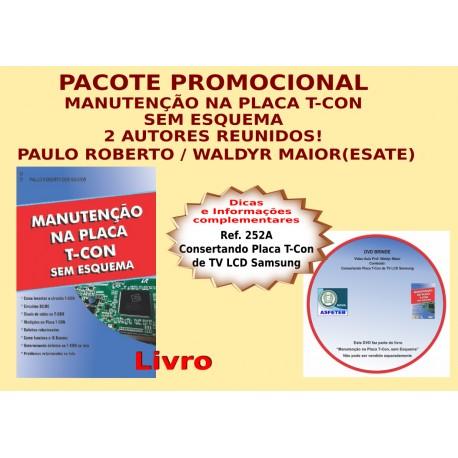 Livro Manutenção na Placa T-Con sem esquema e DVD aula.