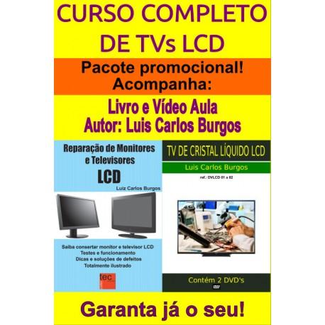 Livro e DVD Conserto TVs LCD.Curso Completo
