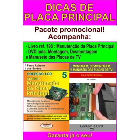 Livro e DVD aula Montagem,Desmontagem e Manuseio das Placas TVs LCD e LED
