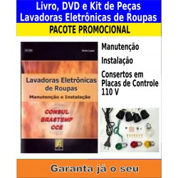 Livro,DVD e Kits de Peças. Lavadoras Eletrônicas de Roupas