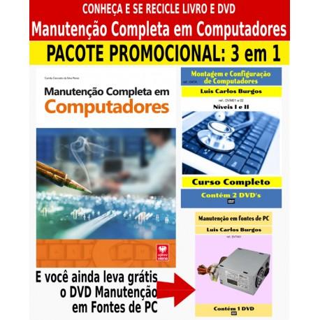 Livro e DVD aula Manutenção de Computadores