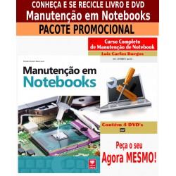 Livro e DVD aula Manutenção em Notebooks