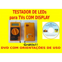 Testador de LEDs para TV LED com display
