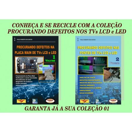 Livros Procurando Defeitos na Placa Main e Fontes de TVs LCD e LED