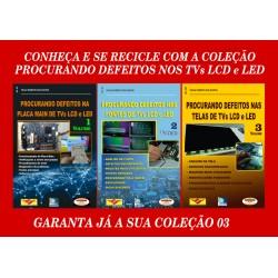 Livros Procurando Defeitos TVs LCD:Placa Main,Fontes e Telas