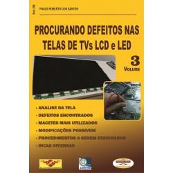 livro Procurando Defeitos nas Telas de TVs LCD e LED