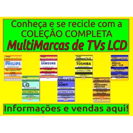 Livros TVs LCD e LED. Coleção Multimarcas.