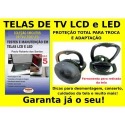 Ventosas e livro Testes e Manutenção em Telas LCD e LED