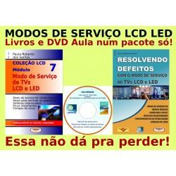 Livros e DVD Aula Modos de Serviço TVs LCD e LED