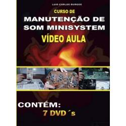 DVD aula Manutenção em Som Minisystem. Col.Completa