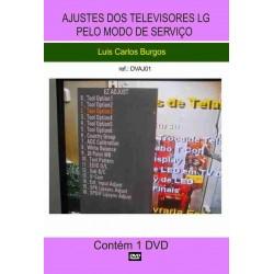 DVD aula Ajustes pelo Modo de Serviço TVs LG