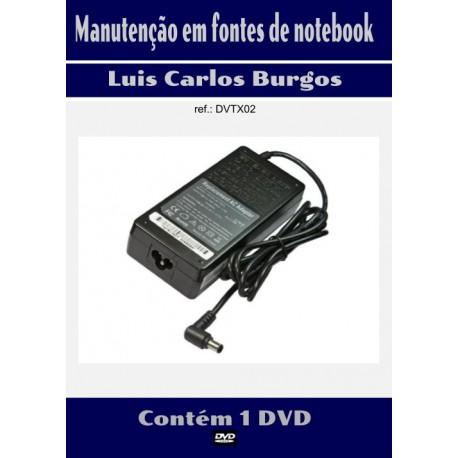 DVD aula Manutenção em Fonte Notebook