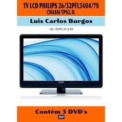 DVD aula TV LCD Philips 26/32 PFL 3404 Ch.2.1L. 3 Vol.