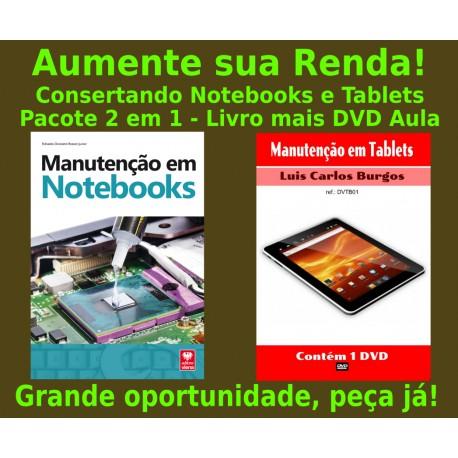 Livro e DVD aula Manutenção em Notebooks e Tablets