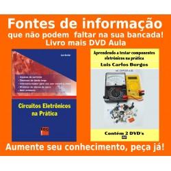 Livro e DVD aula Componentes Eletrônicos