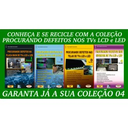 Livros Procurando Defeitos LCD:Placa,Fontes,Telas e Inverter