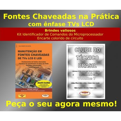 Livro e DVD aula Manutenção em Fontes Chaveadas com ênfase TVs LCD