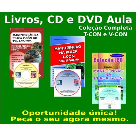 Livros, DVD e CD Placa T-Con e V-Con dos TVs LCD. Col. Completa