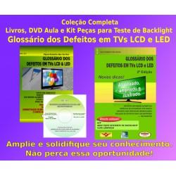 Livros,DVD e Kit Glossário dos Defeitos TVs LCD e LED.Col.Completa