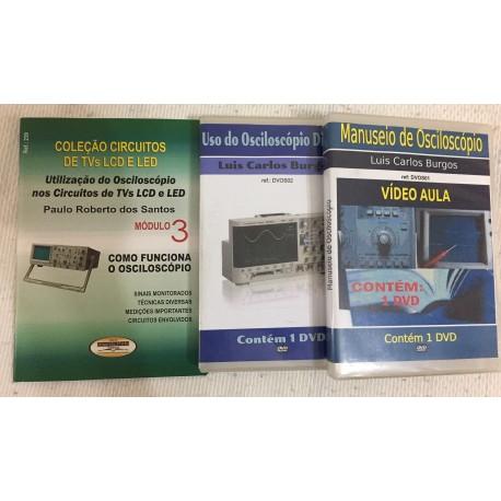 Livro e DVDs aula Osciloscópio Analógico e Digital