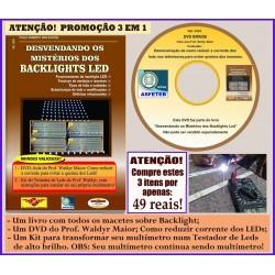 Livro, DVD aula e Kit para montar Testador de Barra de Leds no Multímetro