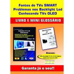 Livro  Coleção 3 x 1.TVs Fontes de TVs Smart, Problemas nos Backlight LED e Conhecendo TVs.OLED.  Vol.02
