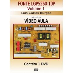 Curso em  DVD aula físico,Fonte LCD  LG P 5260 10P