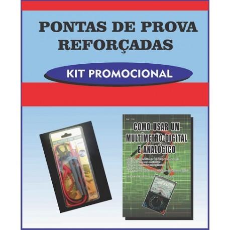 Pontas de Prova Reforçadas e livro Como Usar um Multímetro Digital e Analógico