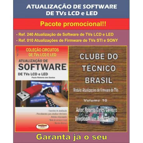 Livro e DVD aula Atualização de Software para TVs LCD e LED