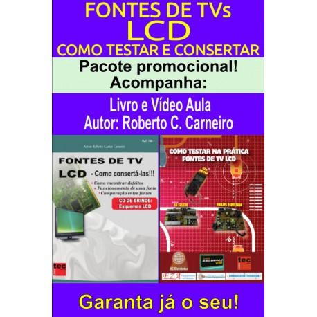 Livro e DVD aula Fontes de TV LCD.