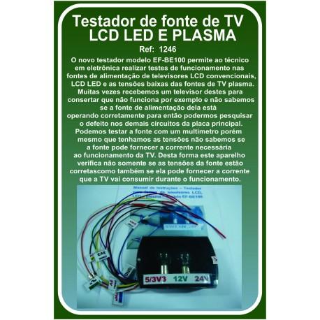 Testador de fonte de TV LCD LED E PLASMA