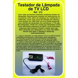Testador de lâmpada CCFL de tv lcd