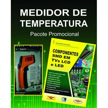 """Medidor de Temperatura à Laser e Livro """"trabalhando com Componentes SMD"""""""